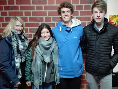 Madeline, Antonia, José und Henning besuchen derzeit gemeinsam die EF der MKG