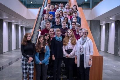 Die Klasse 10c zu Besuch im Bundestag und im BMBF. Foto: BMBF