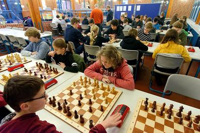 Schachmeisterschaft an der MKG. Foto: Alfred Riese