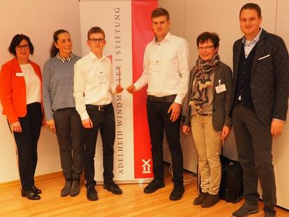 Esther Kuck, Marco Schnabel, Eric Ferlemann und Christa Werning mit den Juroren Elisabet Braumann und Florian Günther