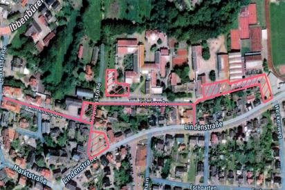 Der Lageplan zeigt, wo seit Freitag, 06.11.2020, die zusätzliche Maskenpflicht auf den Schulwegen gilt. Grundlage ist eine Allgemeinverfügung der Gemeinde Saerbeck vom 05.11.2020, die die NRW-Corona-Schutzverordnung ergänzt.