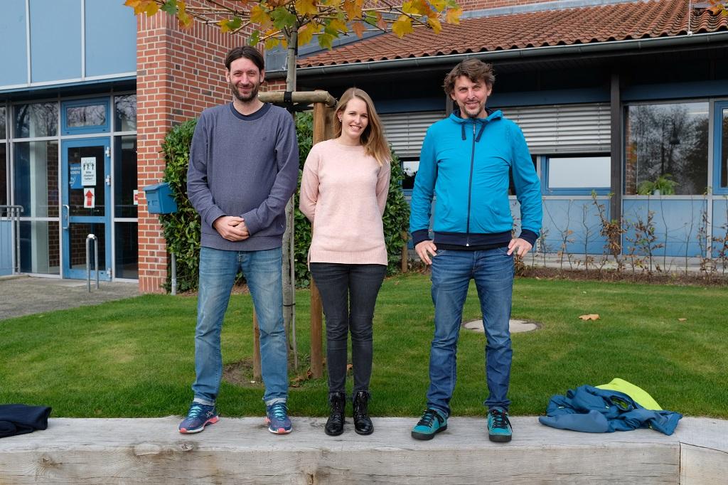 Die SV-Lehrer*innen von links: Herr Steinbrink, Frau Wittenkemper und Herr Höbing.